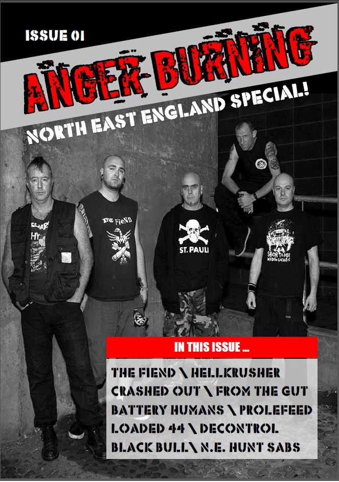Anger Burning Fanzine Issue 1